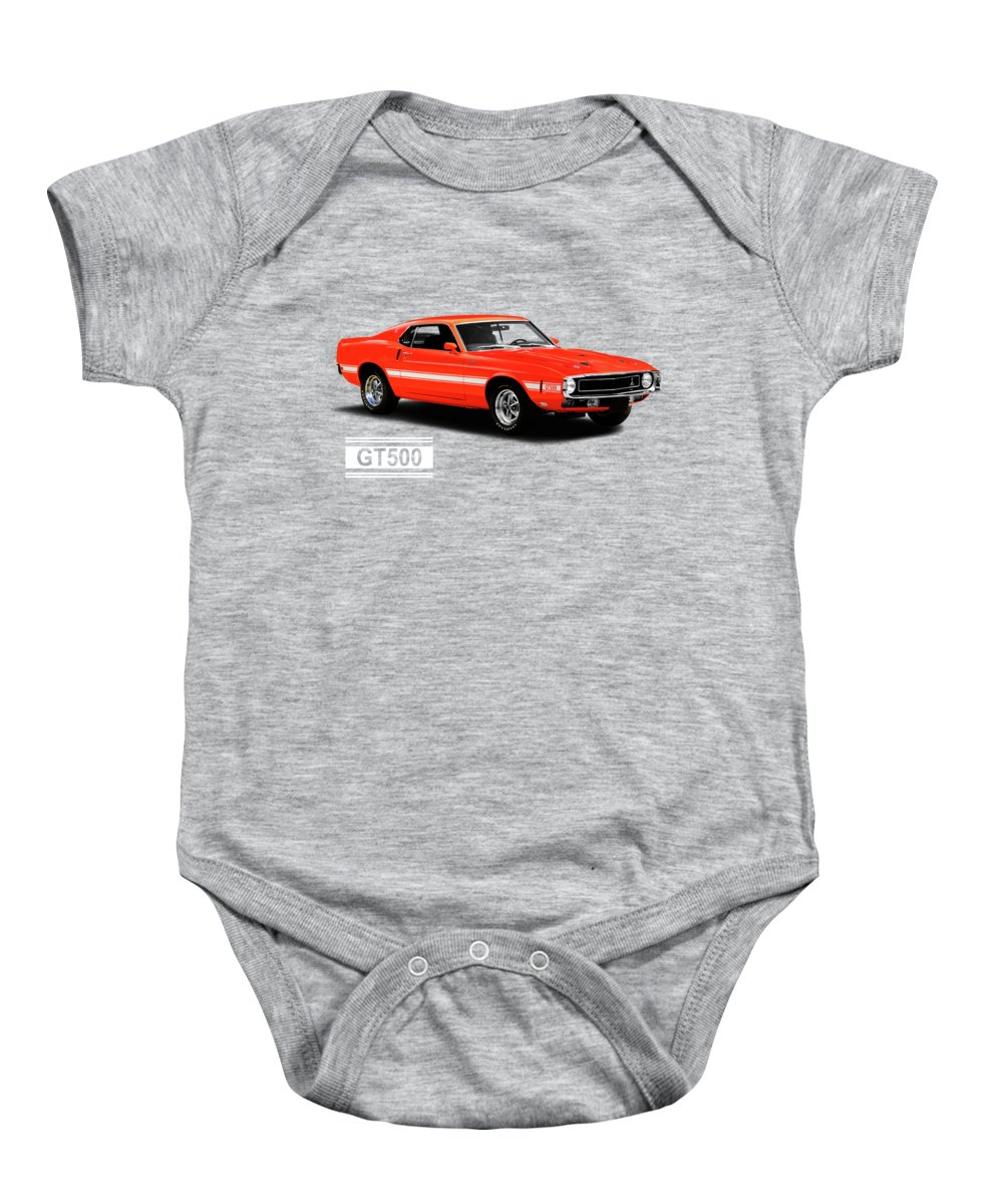 Ford Mustang Shelby Gt500 1969 Onesie for Sale by Mark Rogan