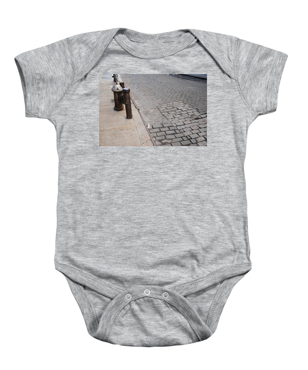 Architecture Baby Onesie featuring the photograph Forgotten N Y by Rob Hans
