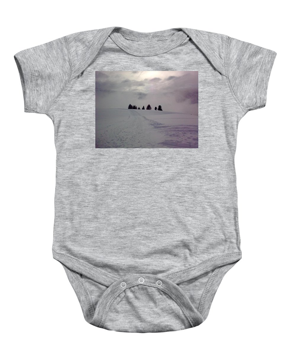 Landscape Baby Onesie featuring the photograph Forlorn Trees by Valerie Ornstein