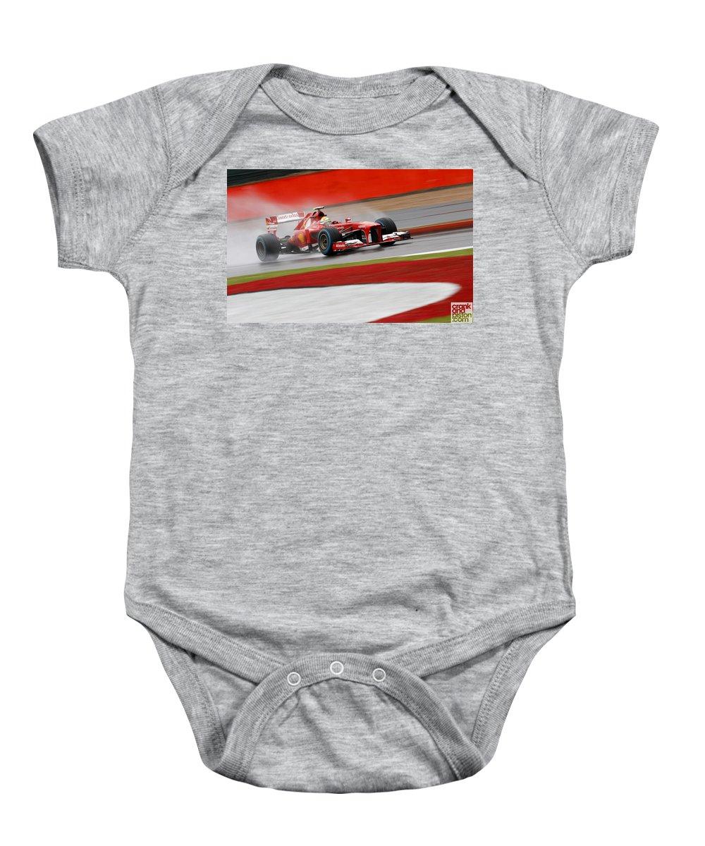 Baby Onesie featuring the digital art Formula 1 British Grand Prix by Alice Kent