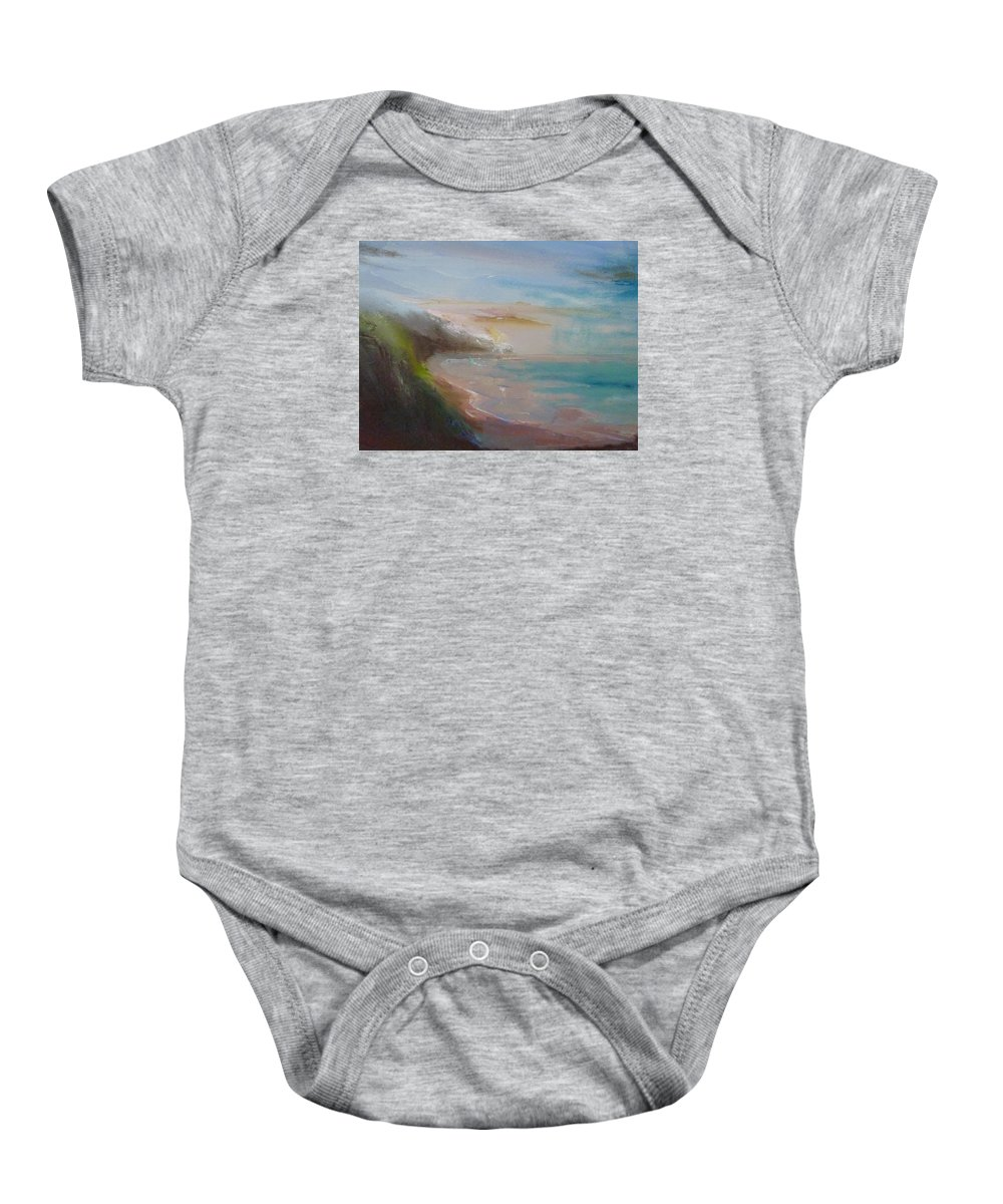 Landscape Baby Onesie featuring the painting Fort Funston by Pusita Gibbs