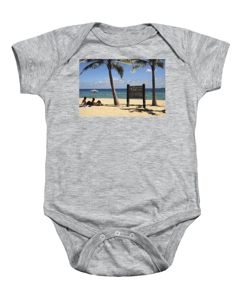 Fort Lauderdale Beach Florida Baby Onesie featuring the photograph Fort Lauderdale Beach by David Lee Thompson