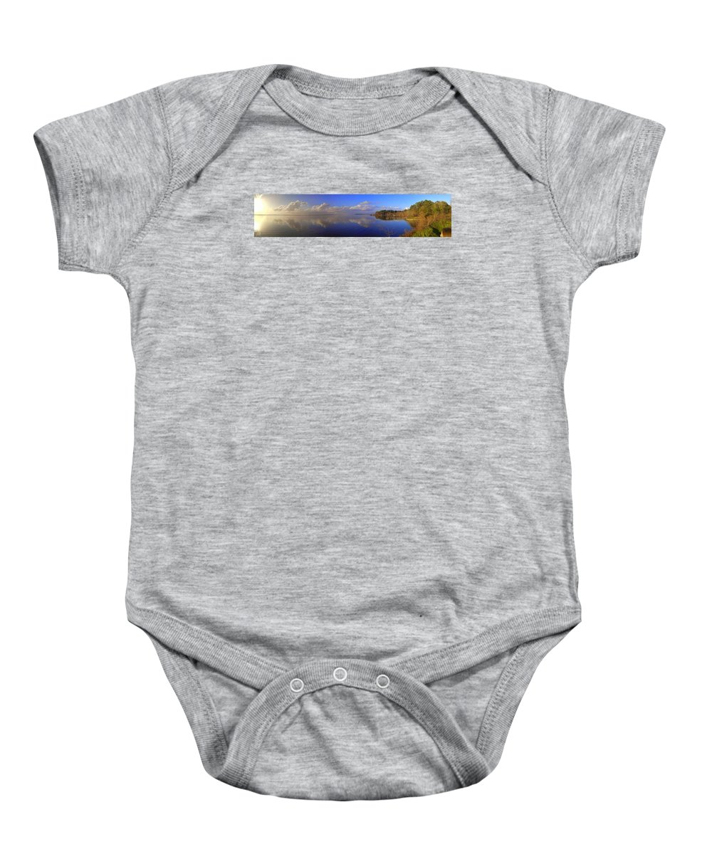Landscapes Baby Onesie featuring the photograph Fort Watson Panorama by Noel Adams