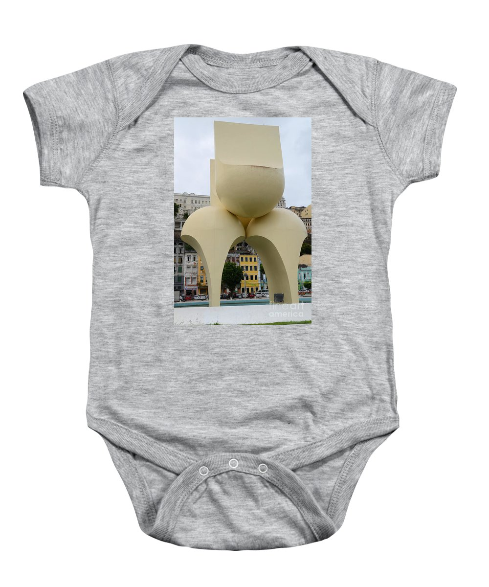 Salvador Baby Onesie featuring the photograph Fountain Of The Market Ramp By Mario Cravo by Ralf Broskvar