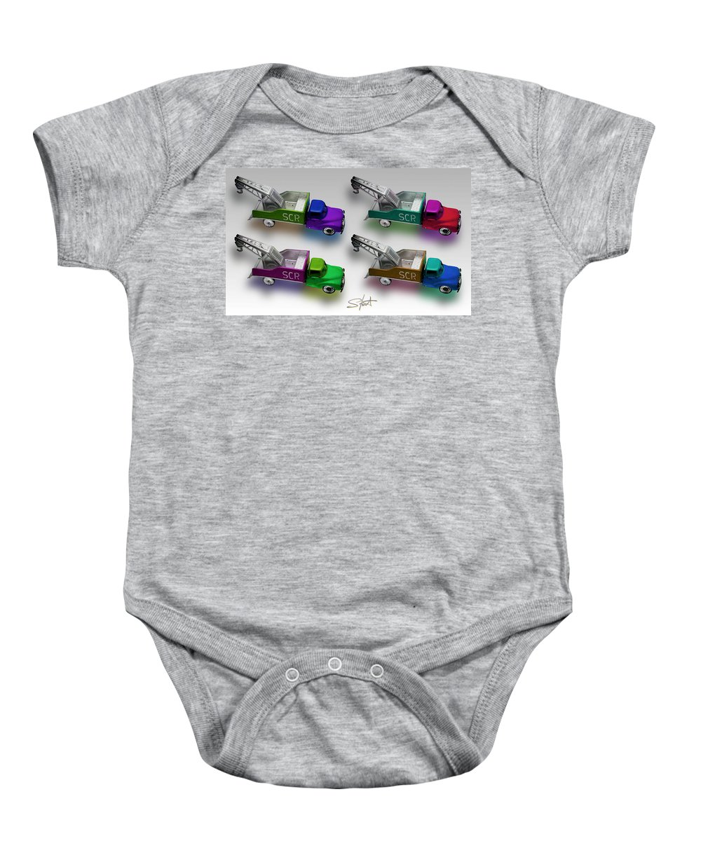 Toy Baby Onesie featuring the photograph Four By Four by Charles Stuart