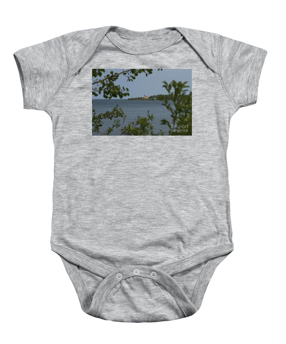 Framed Baby Onesie featuring the photograph Framed Lighthouse by Wesley Farnsworth