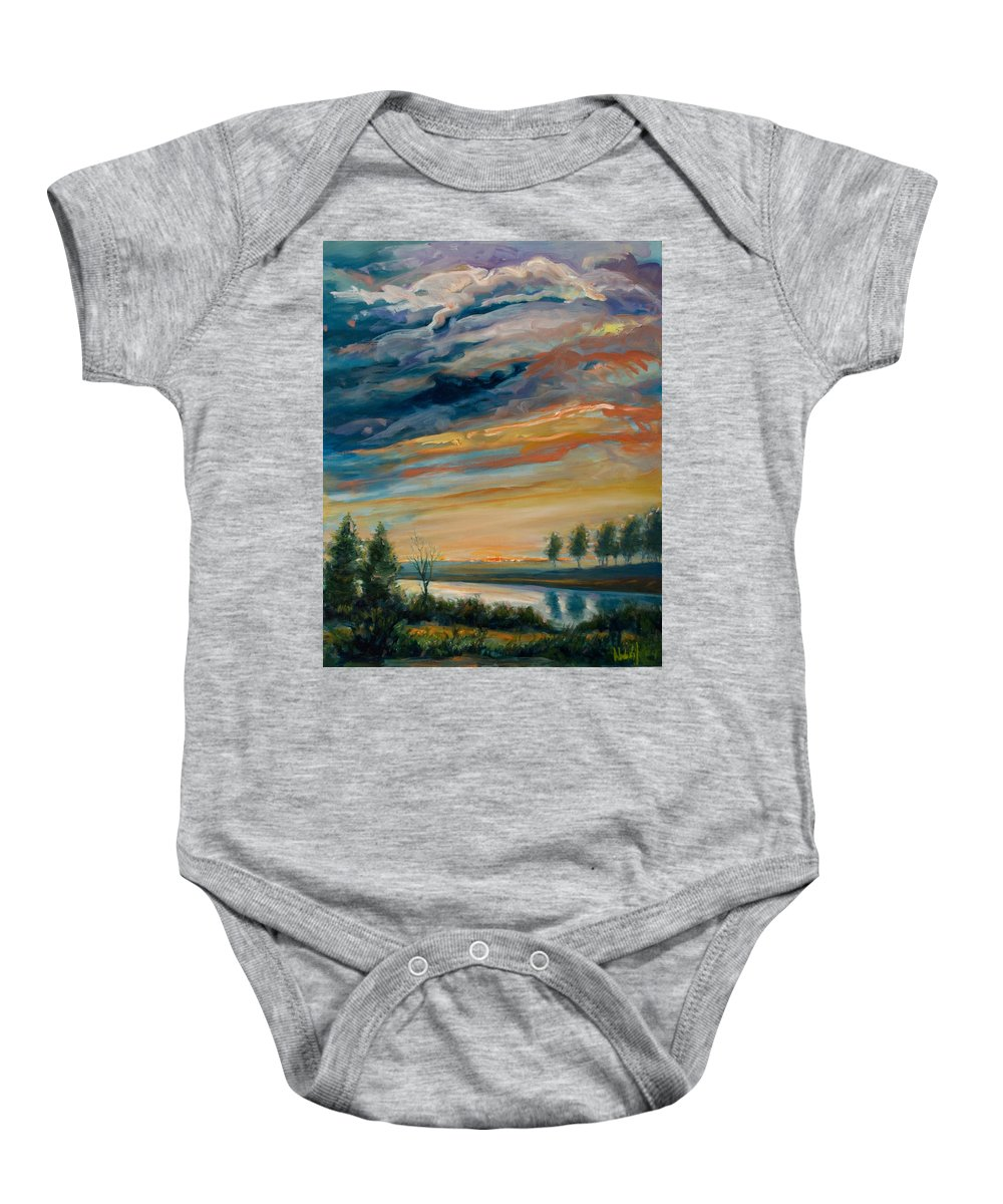 Water Baby Onesie featuring the painting France IIi by Rick Nederlof