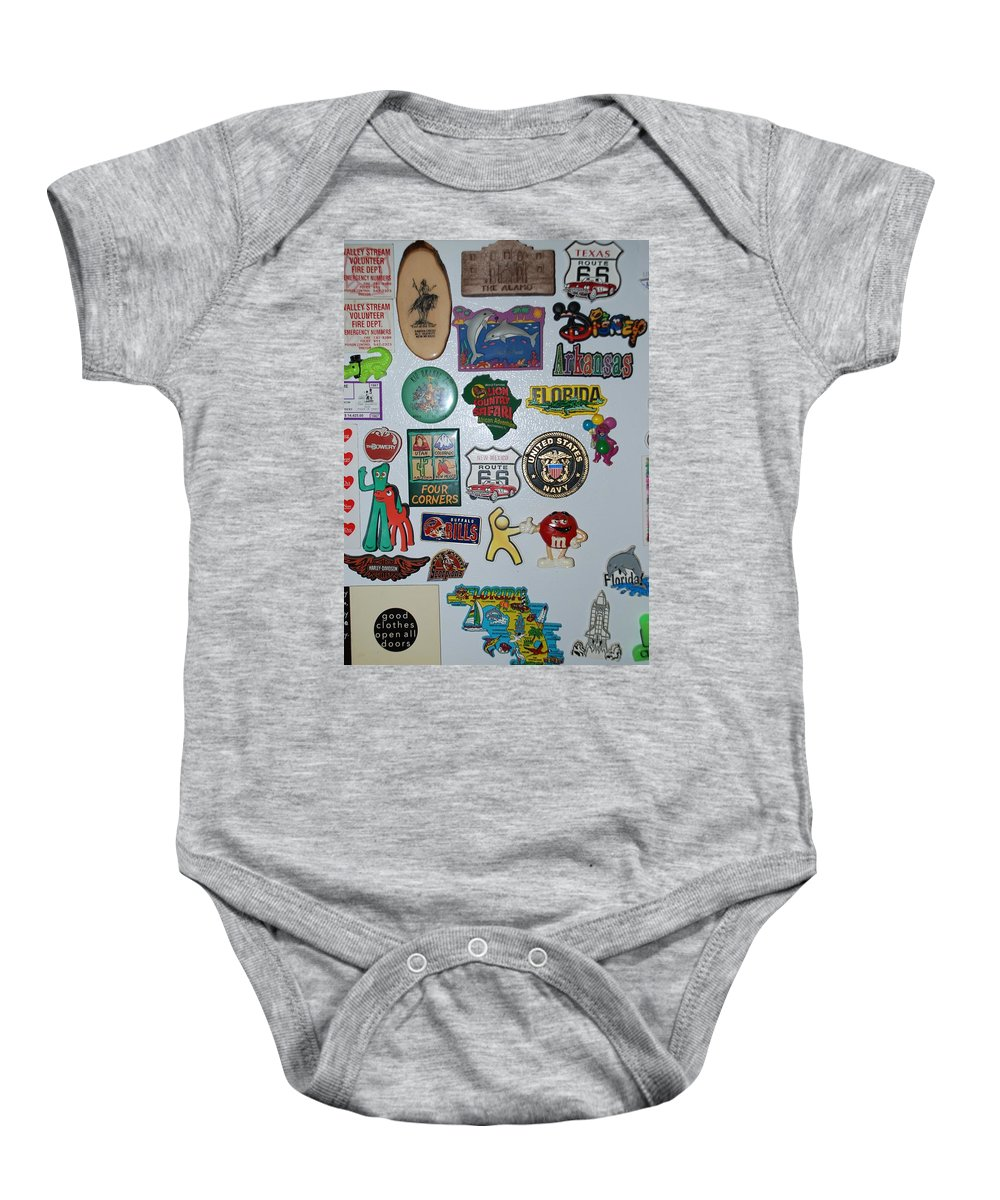 Refrigerator Baby Onesie featuring the photograph Fridge Magnets by Rob Hans
