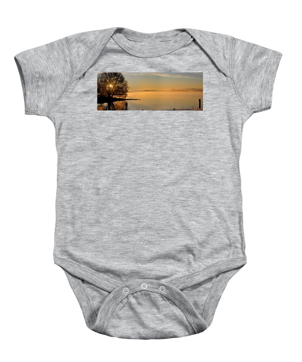 Water Baby Onesie featuring the photograph Frosty Morning Bayside by Tim Nyberg