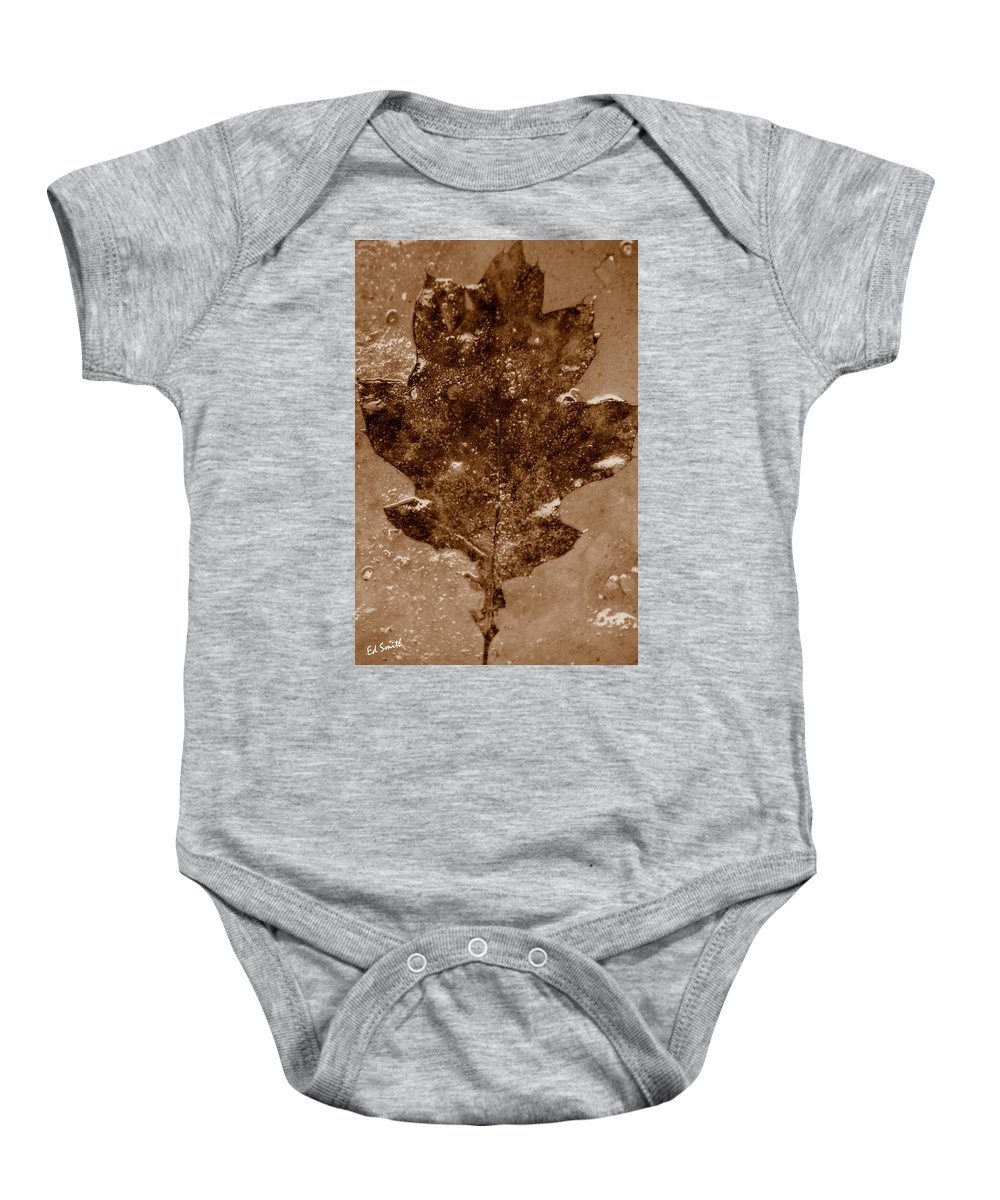 Frozen In Time Baby Onesie featuring the photograph Frozen In Time by Ed Smith