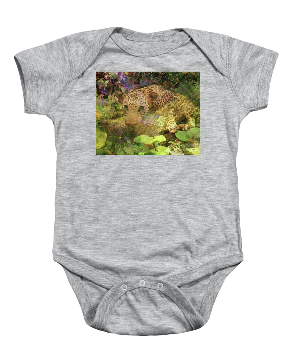 Game Spotting Baby Onesie featuring the digital art Game Spotting by John Beck
