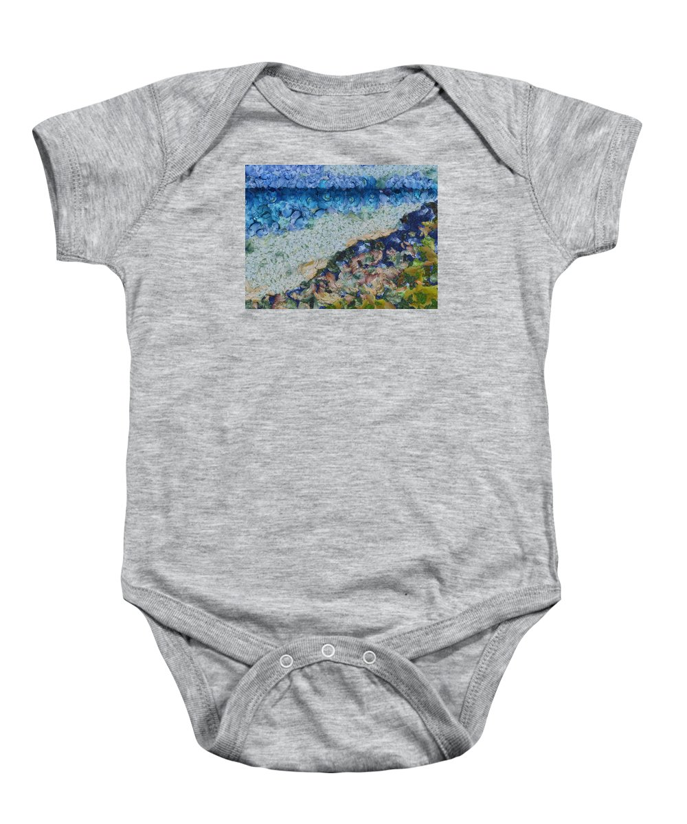 Garbage Baby Onesie featuring the photograph Garbage Near A River by Ashish Agarwal