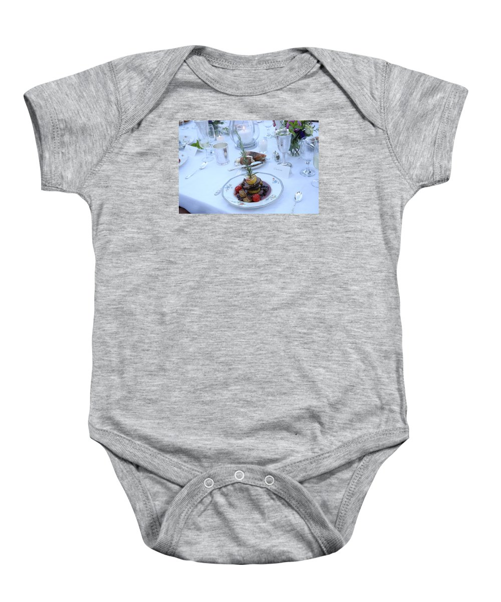 Garrett Baby Onesie featuring the photograph Garrett-352 by Stephanie Klein-Davis