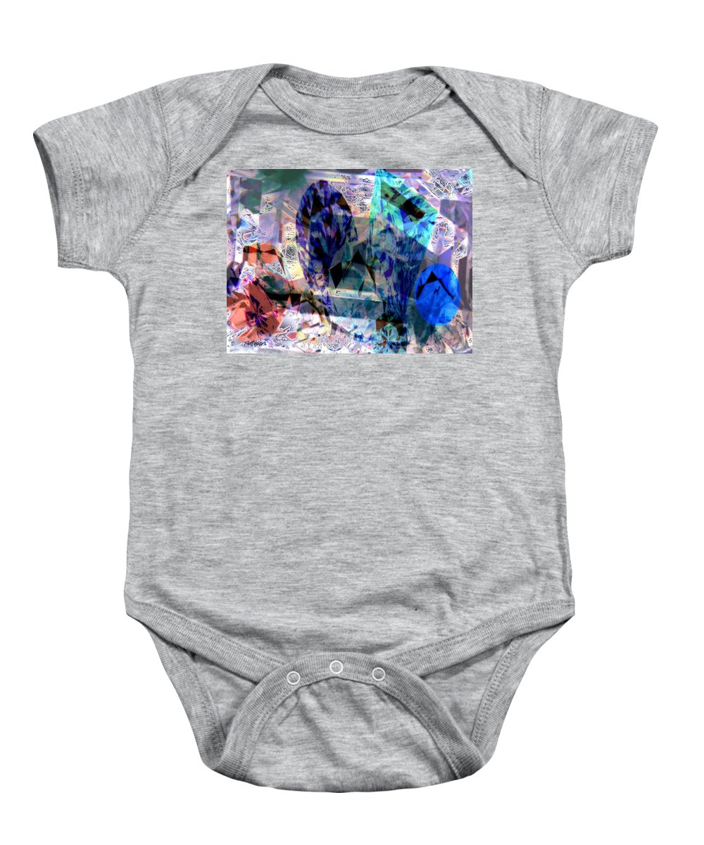 Abstract Baby Onesie featuring the photograph Gems Of Ice by Seth Weaver