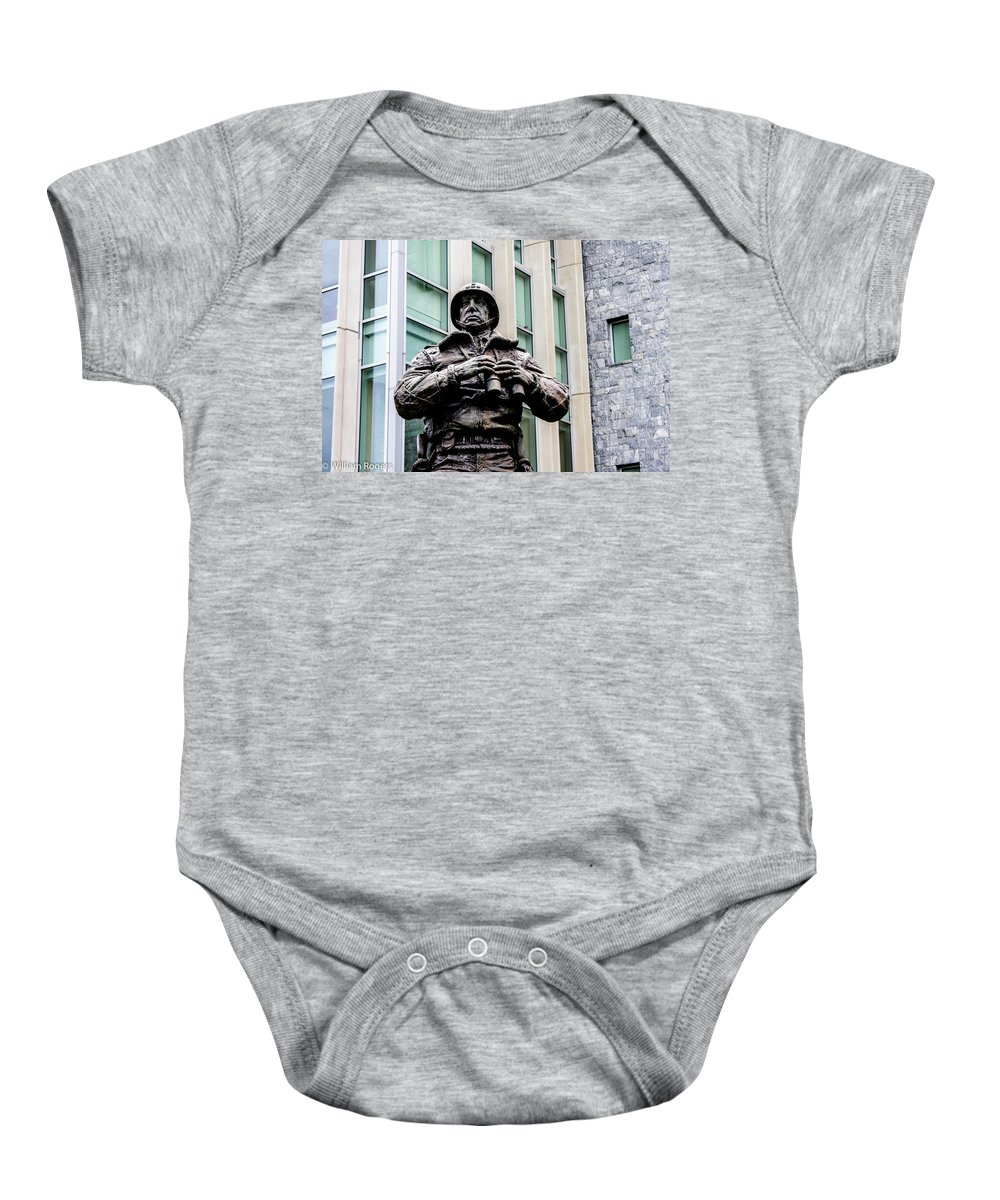 General George Smith Patton Jr. (november 11 Baby Onesie featuring the photograph General George S Patton by William Rogers