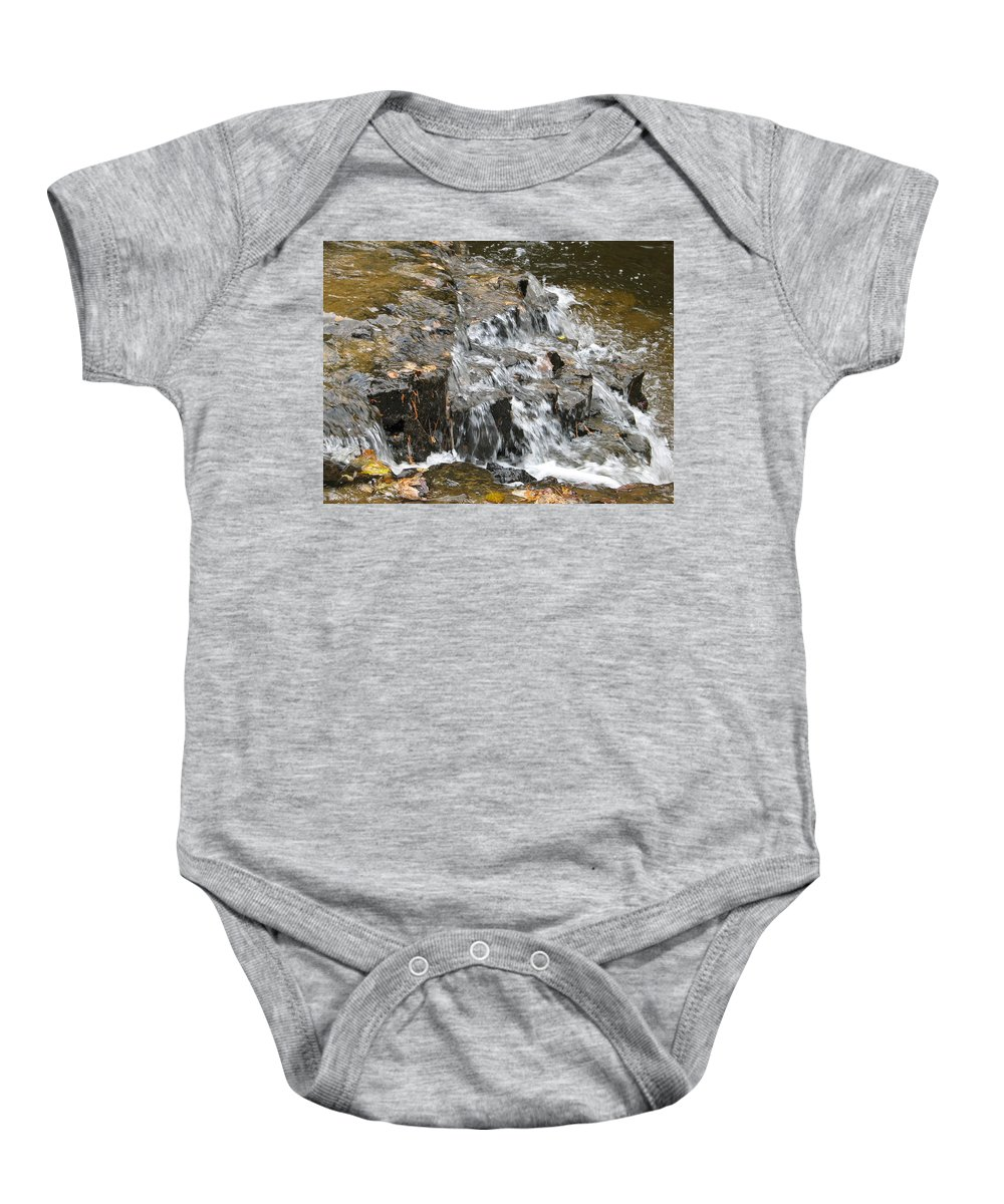 Waterfall Baby Onesie featuring the photograph Gentle Falls by Kelly Mezzapelle