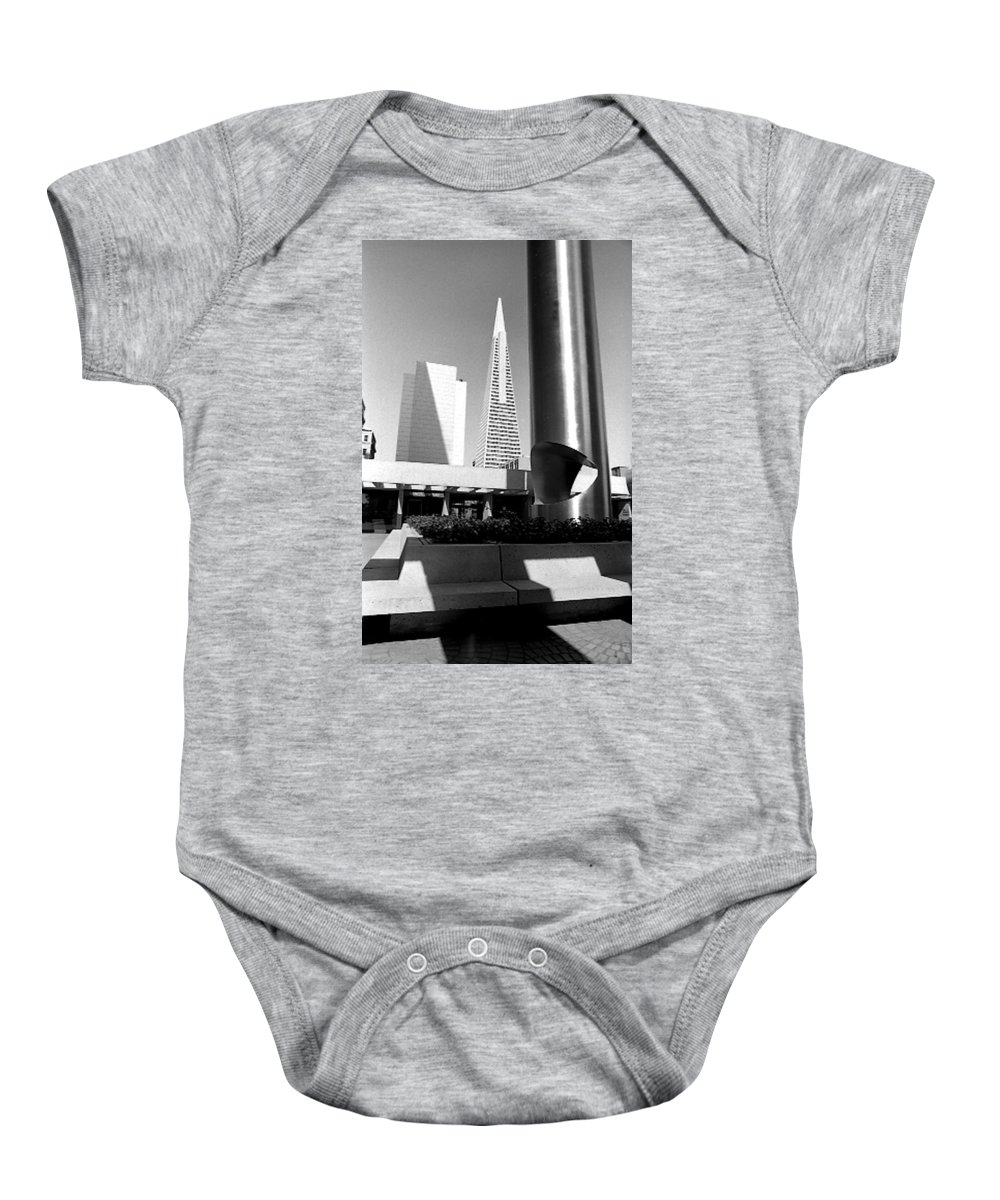 Cityscapes Baby Onesie featuring the photograph Geometry In Action by Norman Andrus