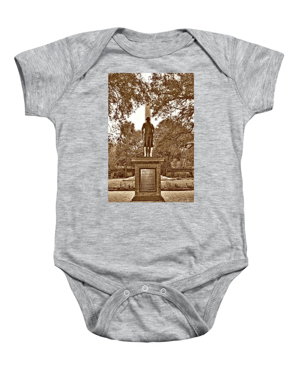 Culture Baby Onesie featuring the photograph George Washington, Charleston,sc by Skip Willits