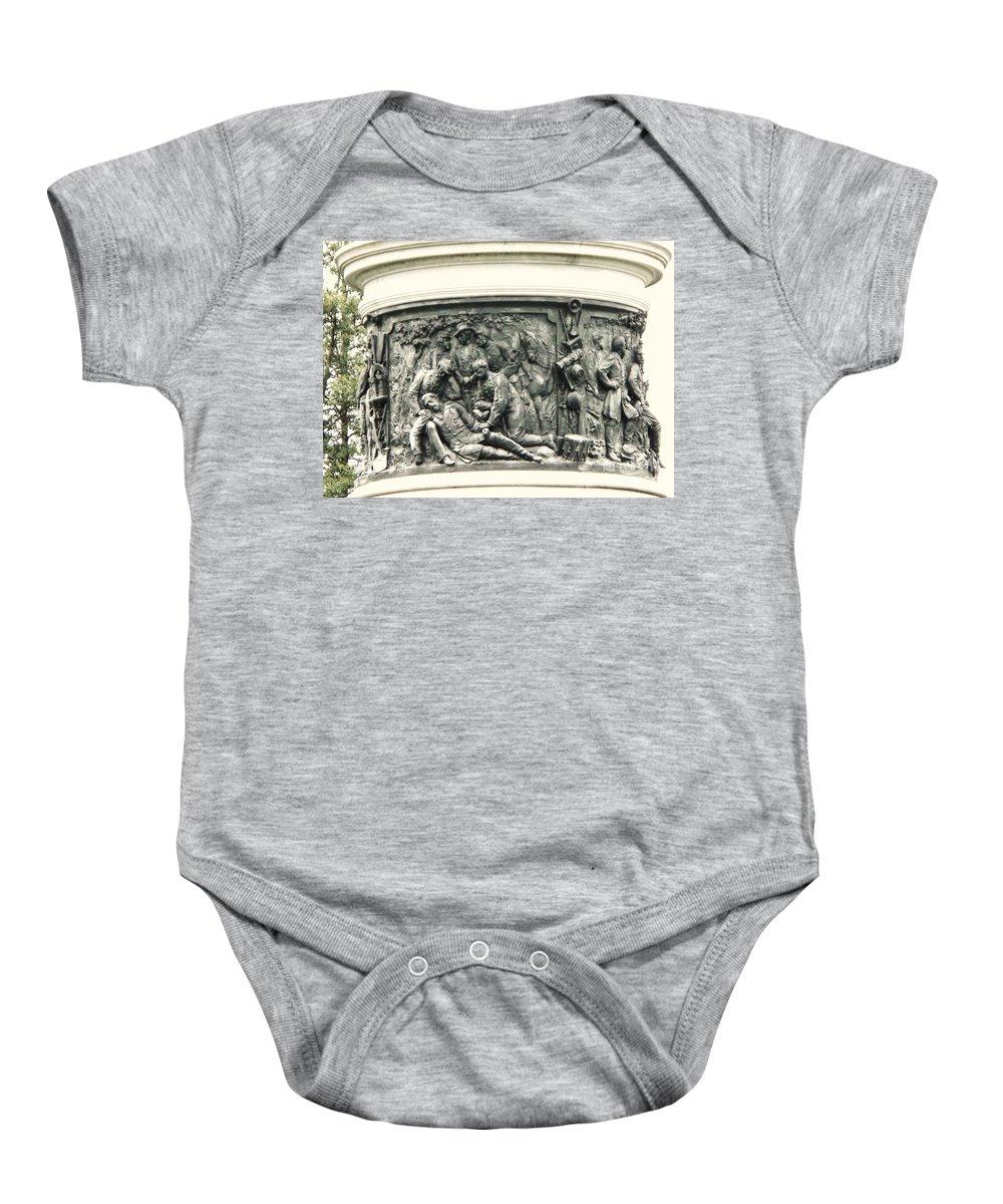 Gettysburg Baby Onesie featuring the photograph Gettysburg Monument by Eric Schiabor