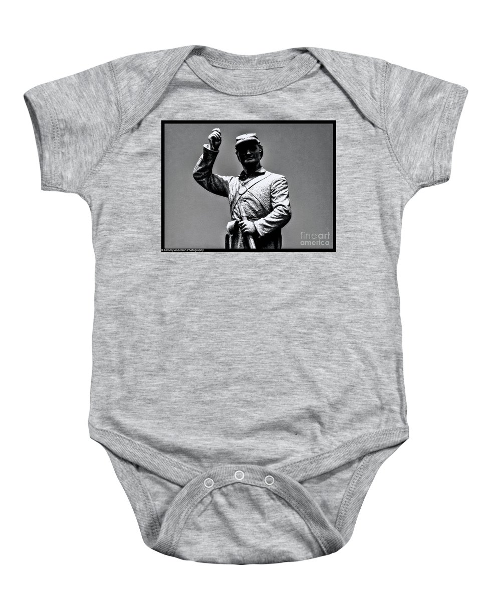 Gettysburg Baby Onesie featuring the photograph Gettysburg National Battlefield Park by Tommy Anderson