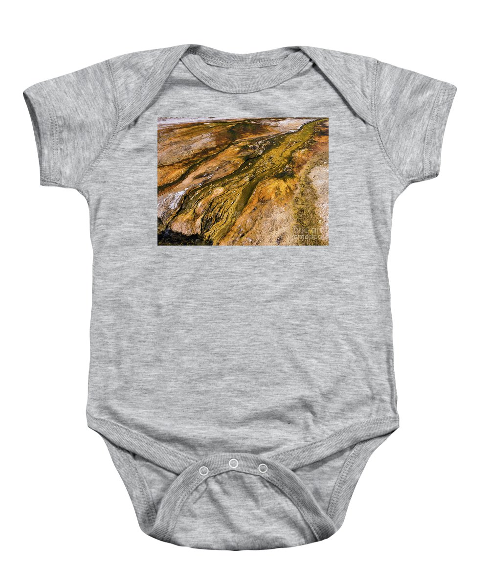 Wyoming Baby Onesie featuring the photograph Geyser Basin Springs 2 by Tracy Knauer