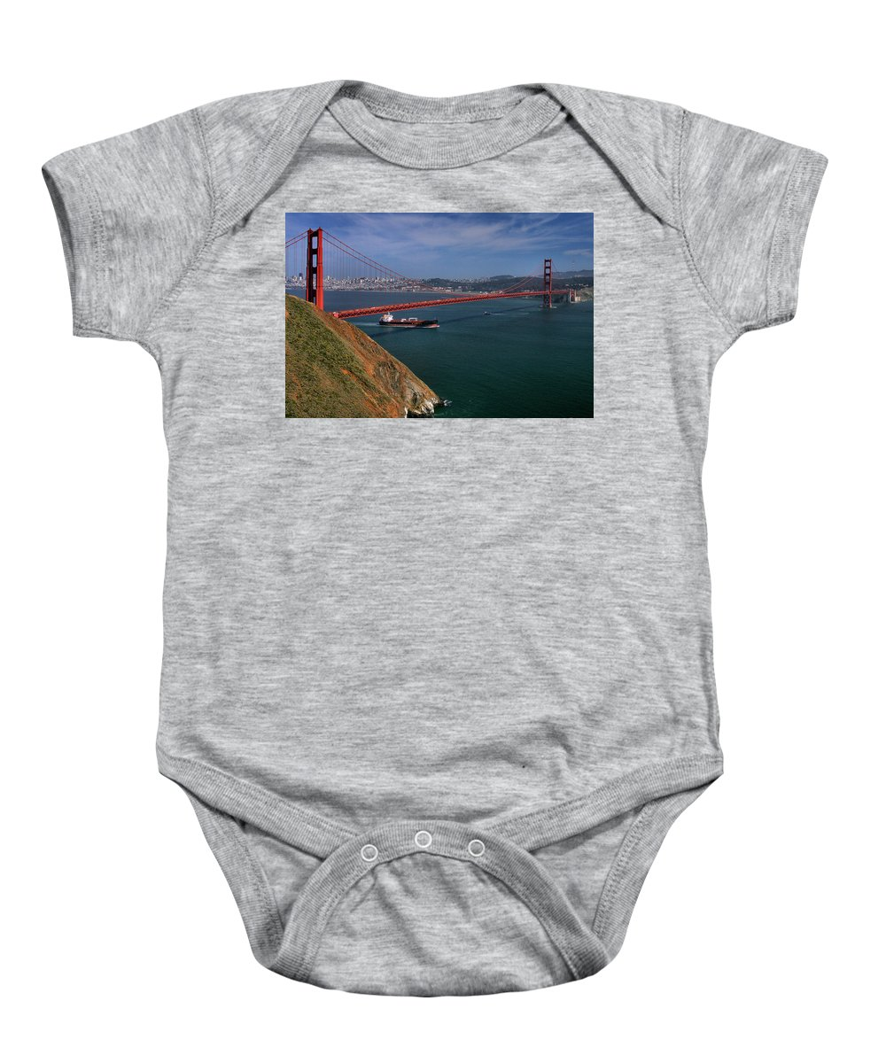 San Francisco Baby Onesie featuring the photograph Gg Gonzelman Way 2 by Michael Gordon