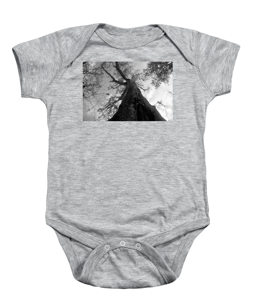 Ghostly Baby Onesie featuring the photograph Ghostly Tree by David Lee Thompson
