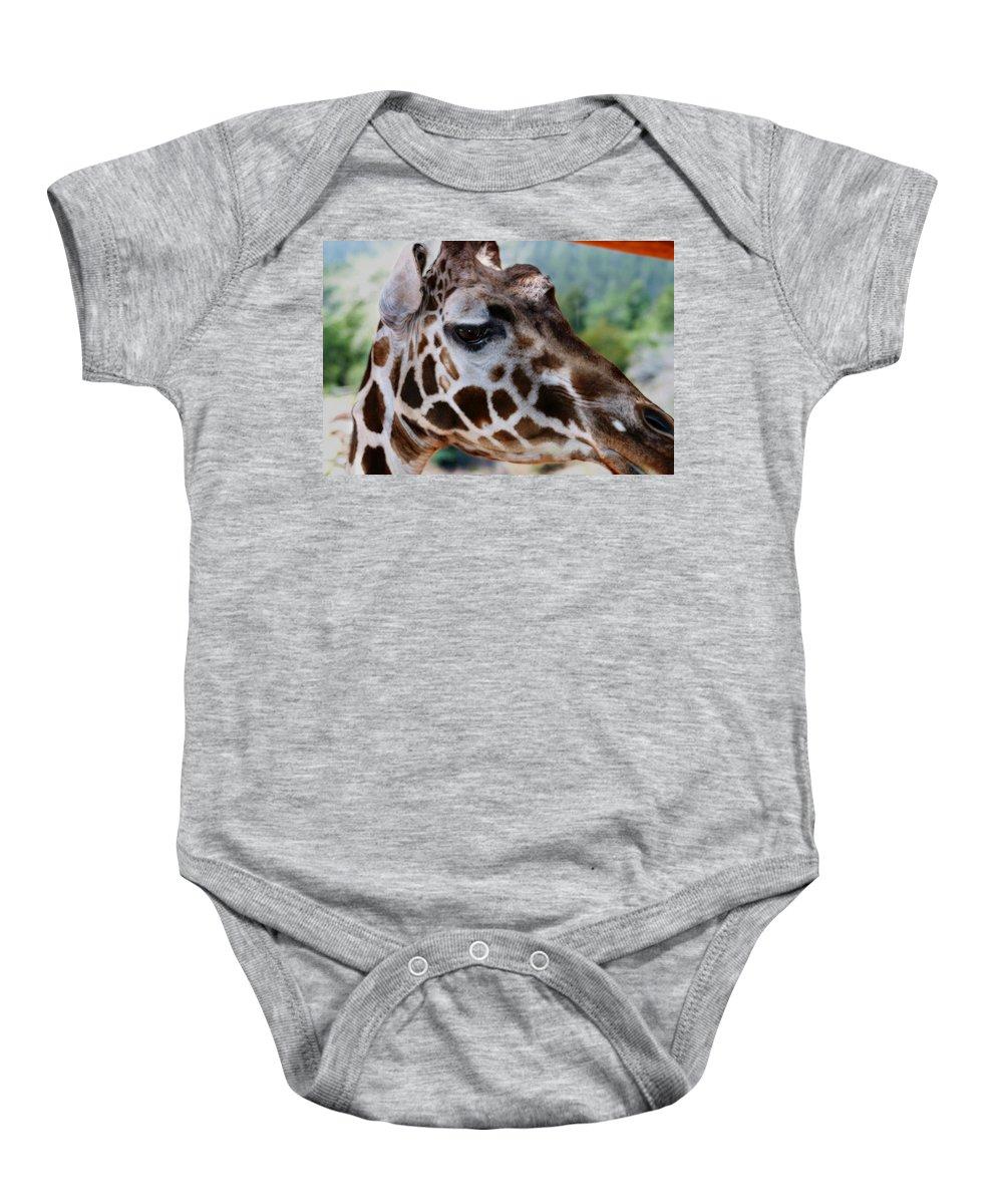Wildlife Baby Onesie featuring the digital art Giraffe by Anthony Jones