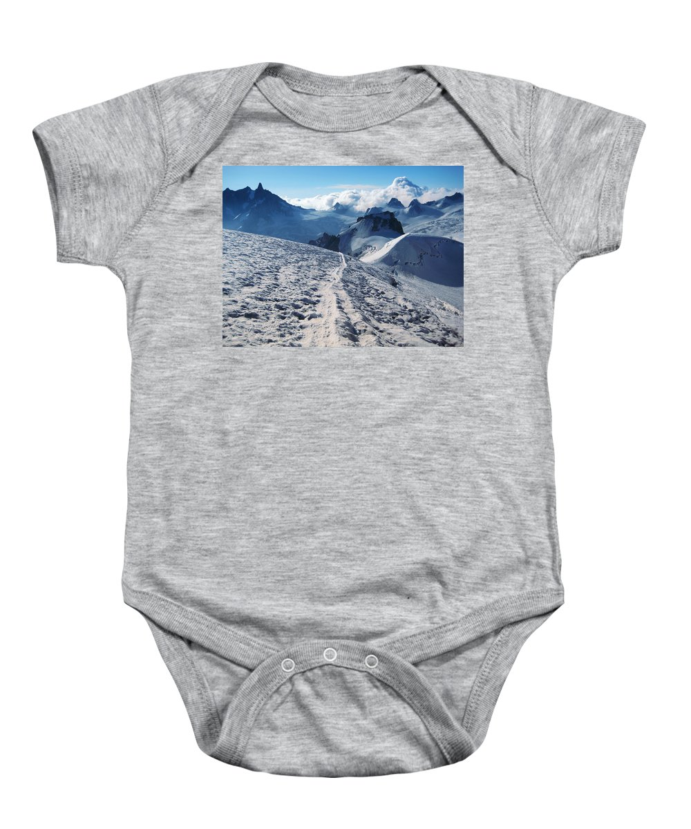 Mountains Baby Onesie featuring the photograph Glacier Blanche by Elizabetha Fox