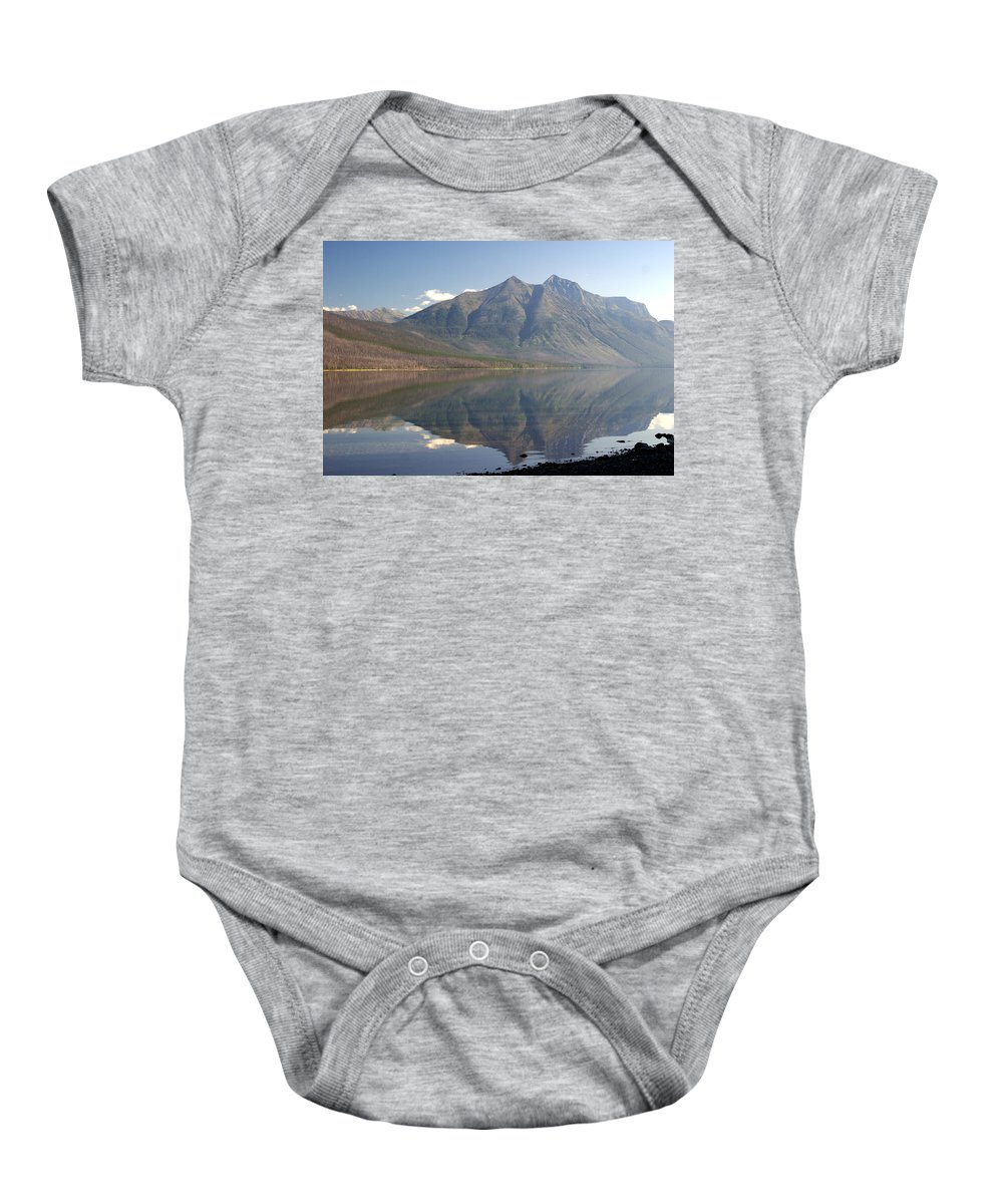 Glacier National Park Baby Onesie featuring the photograph Glacier Reflection1 by Marty Koch