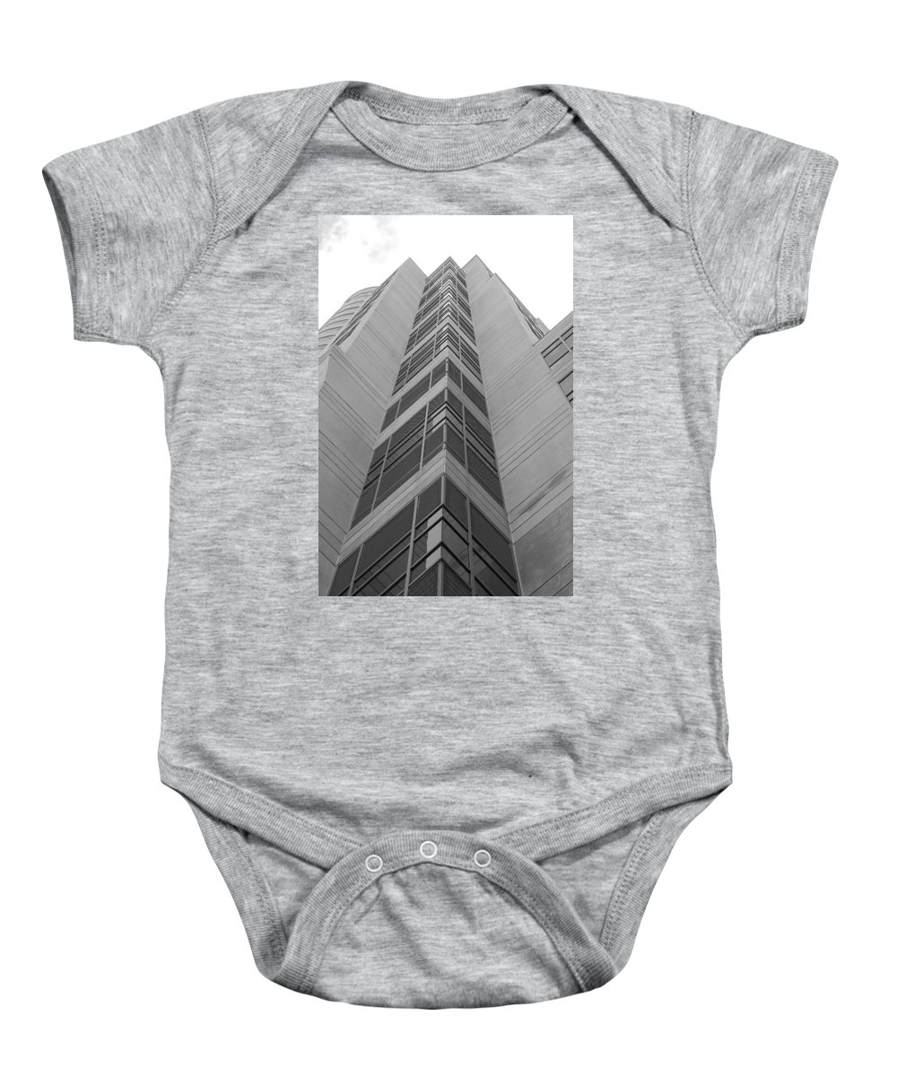 Architecture Baby Onesie featuring the photograph Glass Tower by Rob Hans