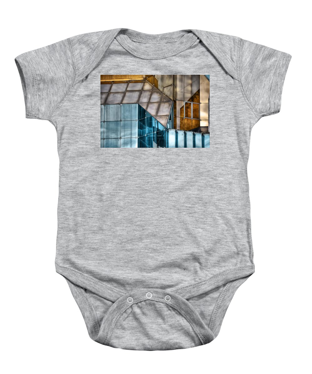 Glass Baby Onesie featuring the photograph Glassed by Wayne Sherriff