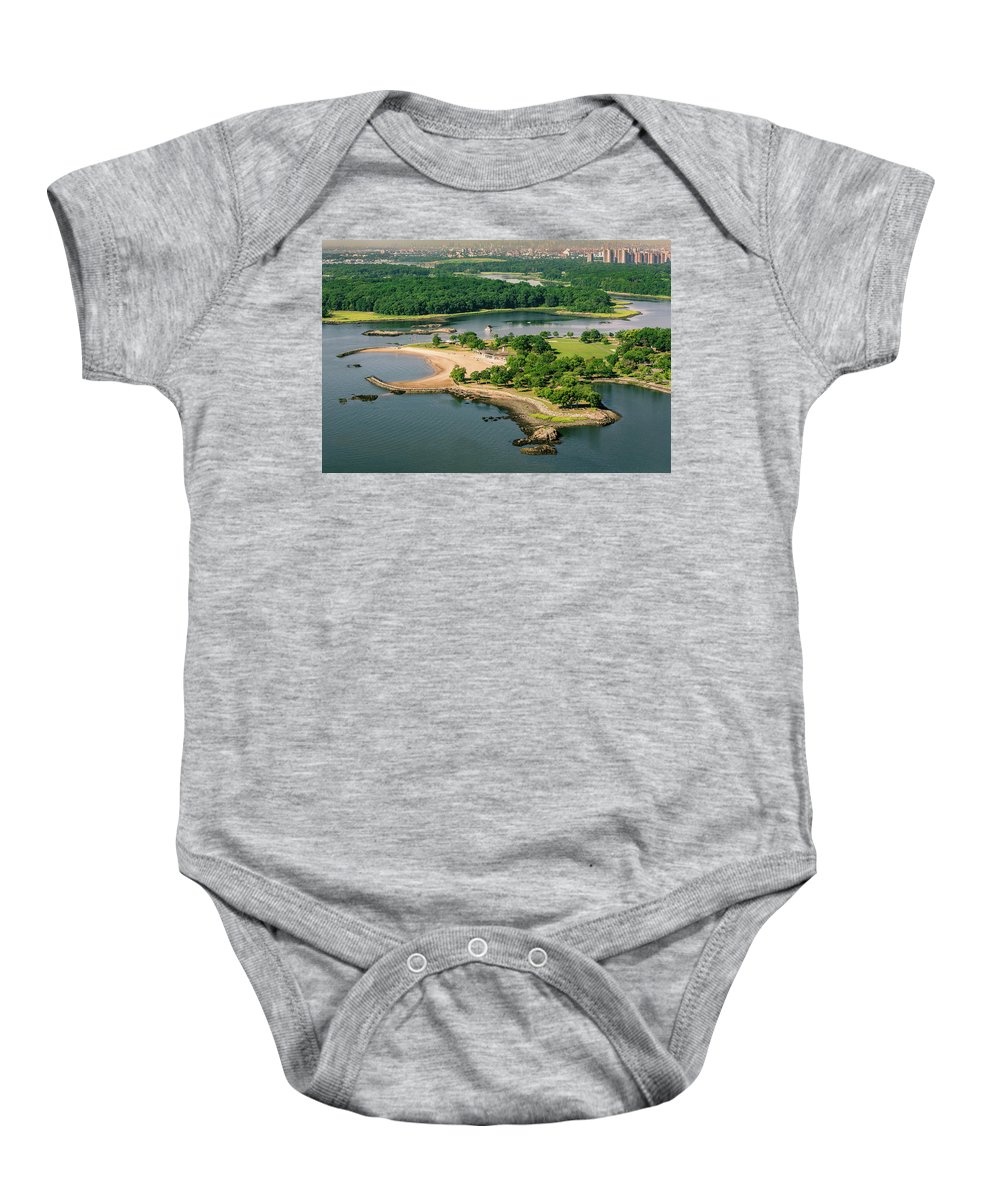 Glen Island Baby Onesie featuring the photograph Glen Island / Co Op City by Louis Vaccaro