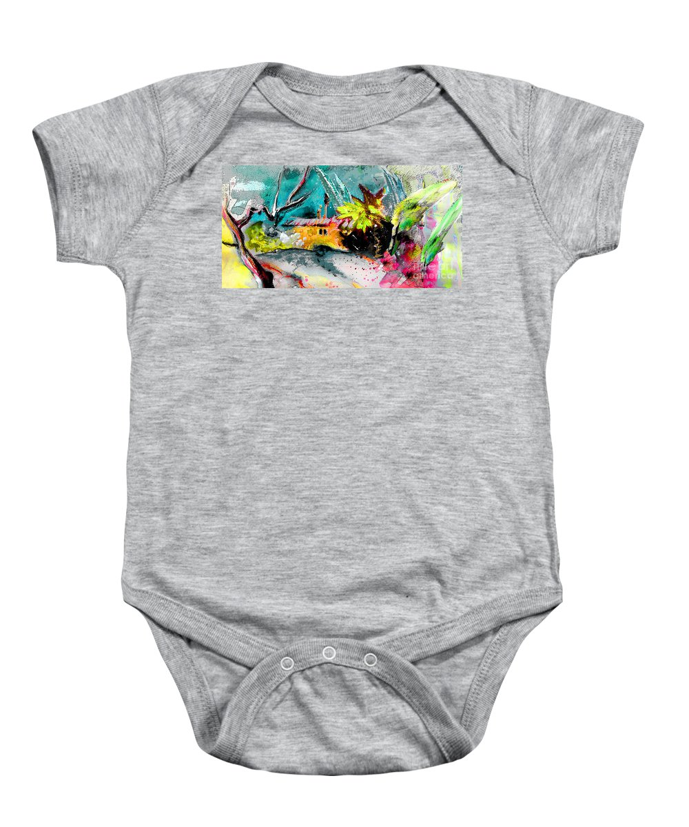 Pastel Painting Baby Onesie featuring the painting Glory Of Nature by Miki De Goodaboom
