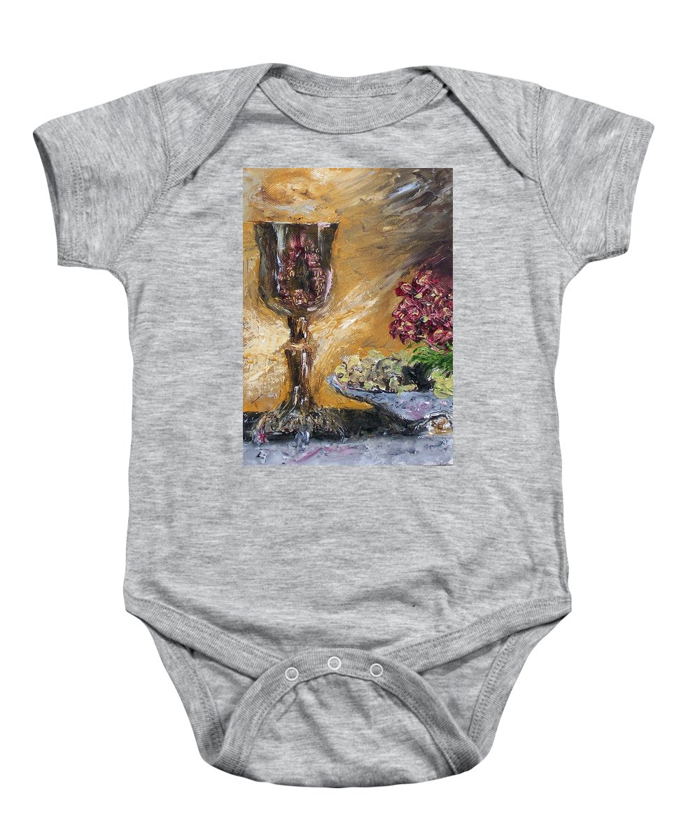 Baby Onesie featuring the painting Goblet by Stephen King