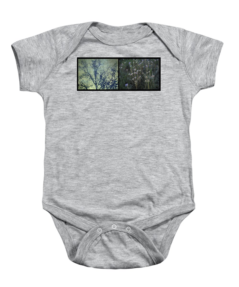 God Baby Onesie featuring the photograph God by James W Johnson