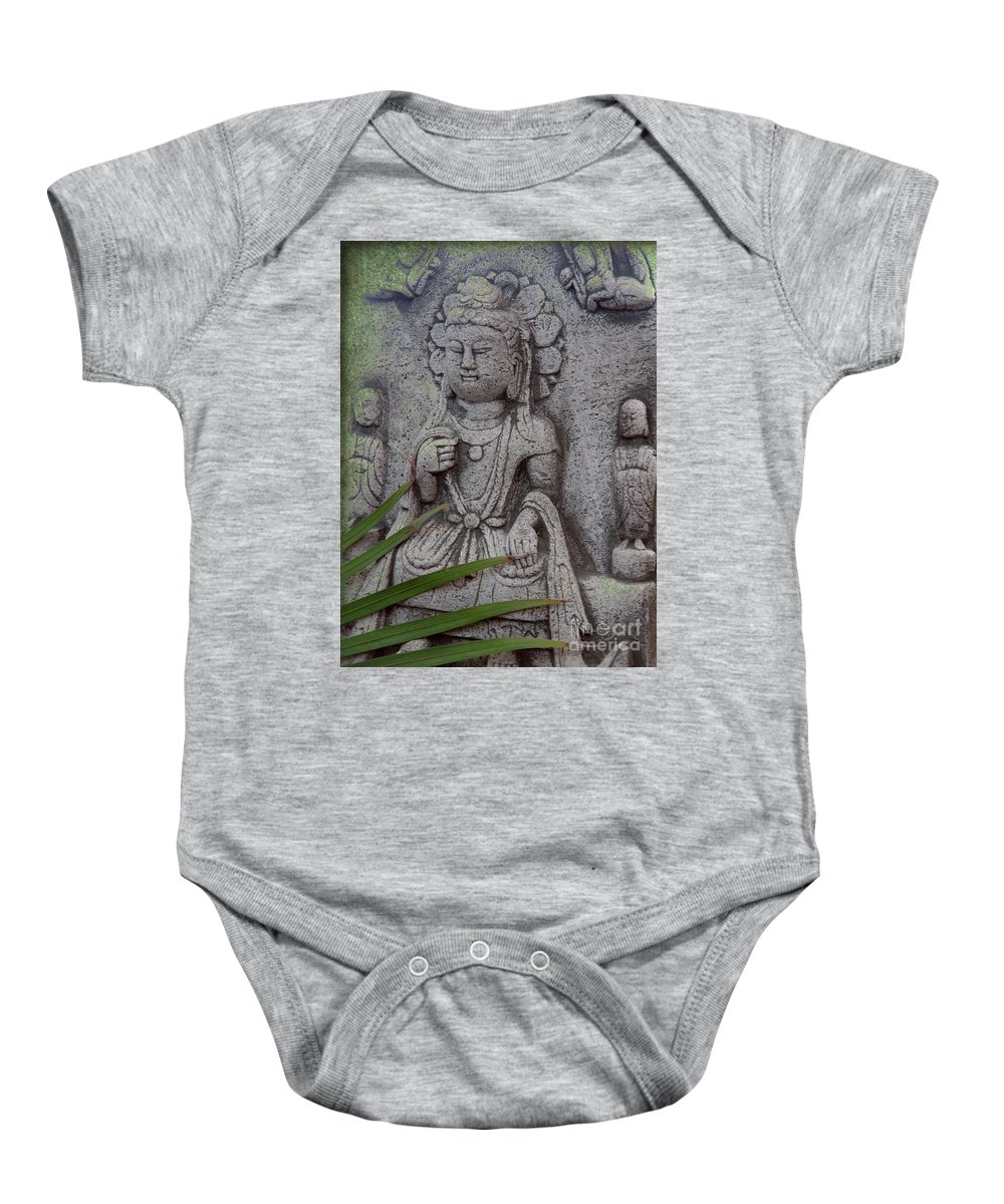 Shiva Baby Onesie featuring the photograph God Shiva by Susanne Van Hulst