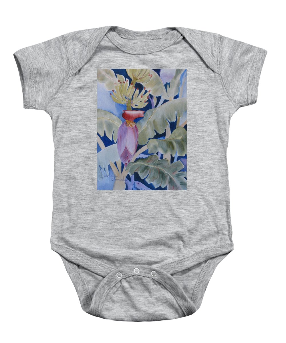 Bananas Baby Onesie featuring the painting Going Bananas 2 by Donna Steward