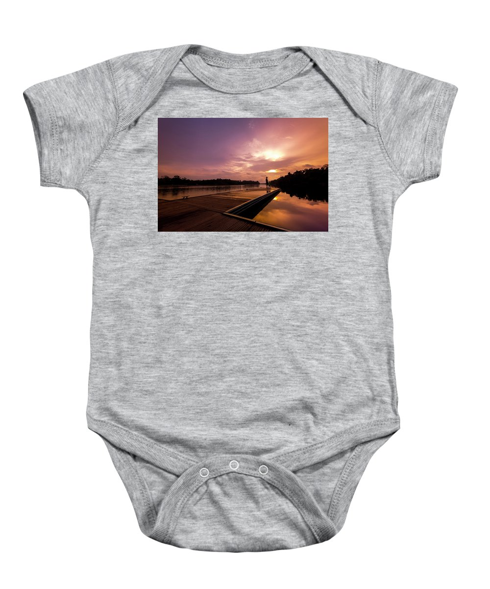 Landscape Baby Onesie featuring the photograph Golden Sunset by WS Toh