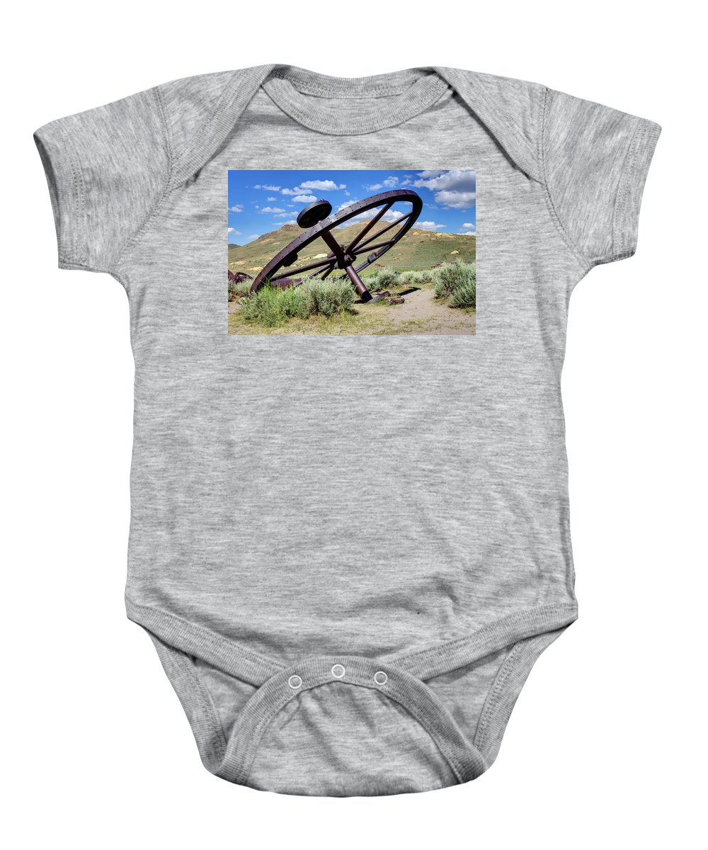 Bodie Baby Onesie featuring the photograph Golden Tools by Ricky Barnard