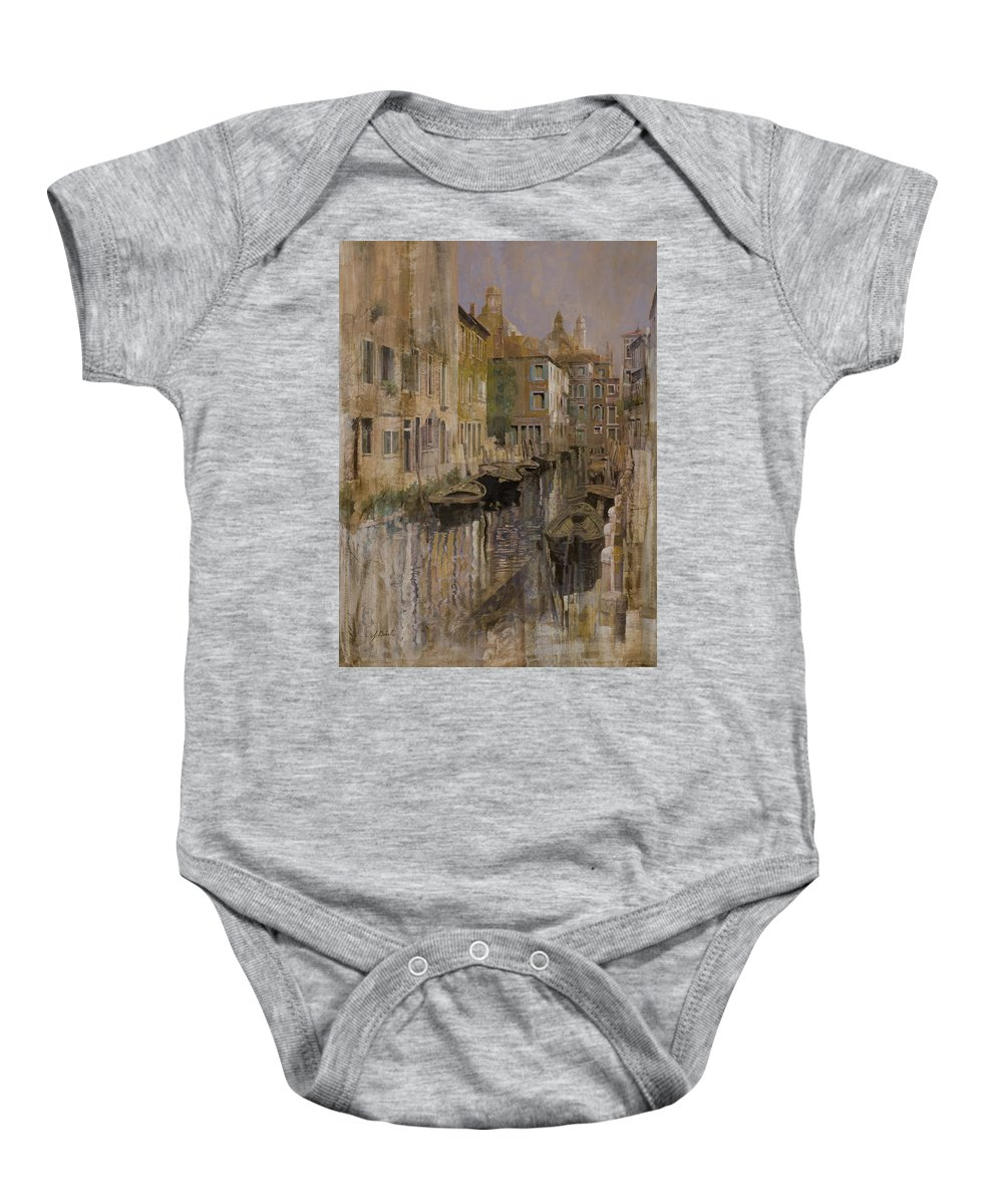 Venice Baby Onesie featuring the painting Golden Venice by Guido Borelli
