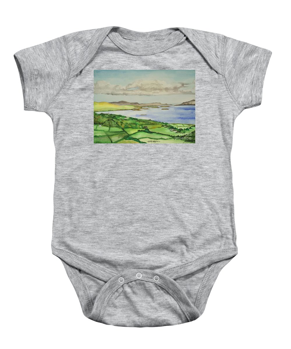 Ireland Baby Onesie featuring the painting Goleen Vista by Janine Hunn