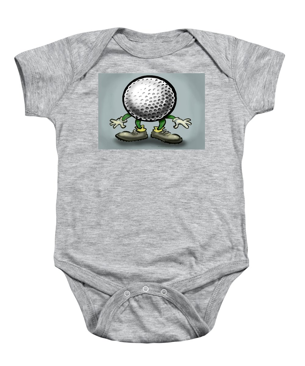 Golf Baby Onesie featuring the greeting card Golf by Kevin Middleton