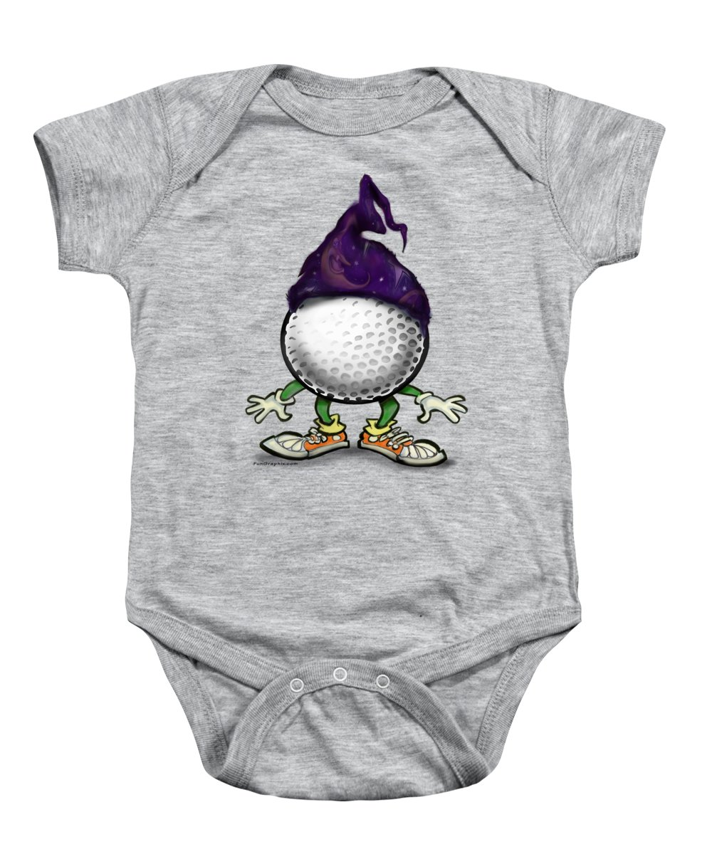 Golf Baby Onesie featuring the digital art Golf Wizard by Kevin Middleton