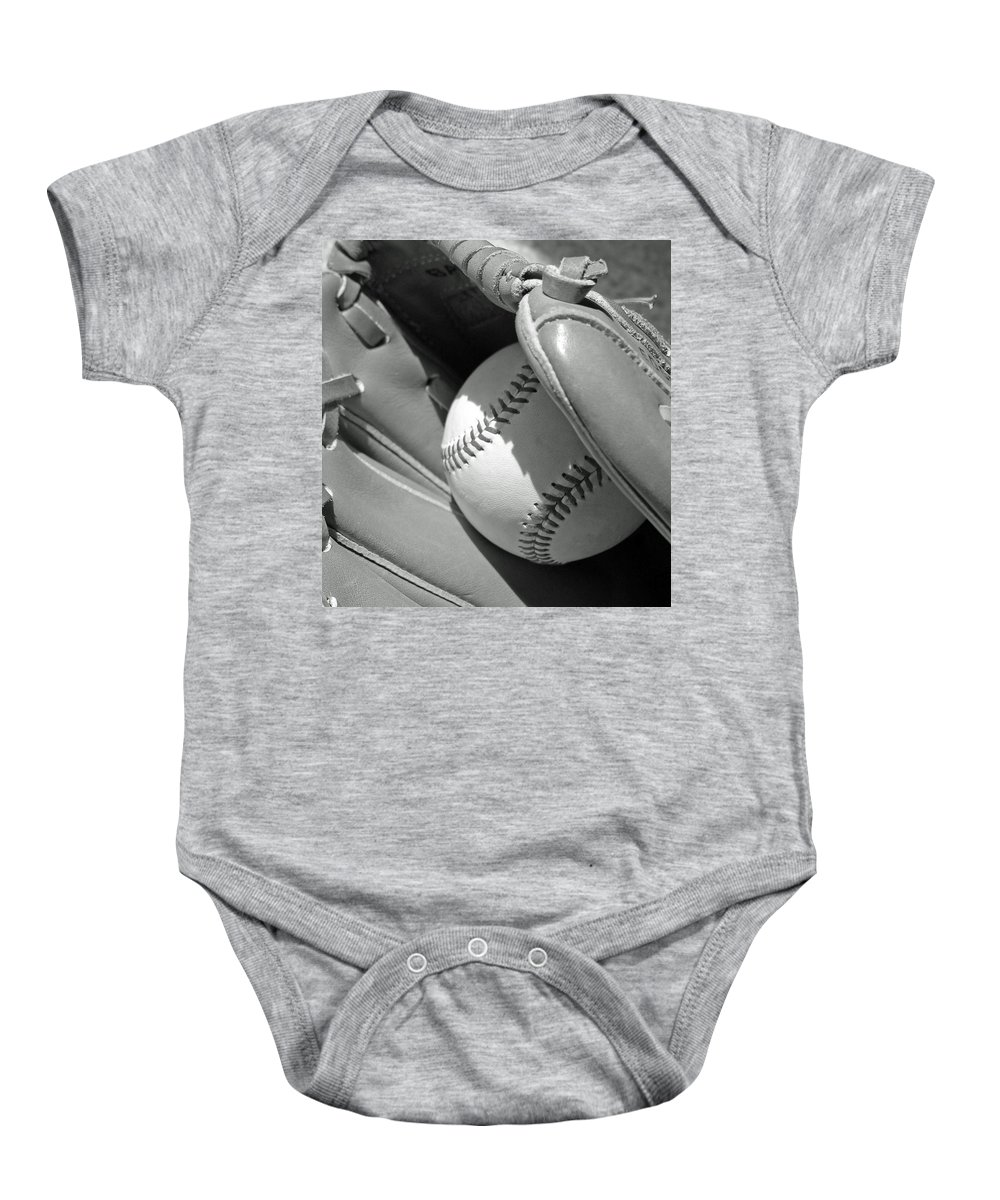 Baseball Baby Onesie featuring the photograph Good Catch by Adam Vance