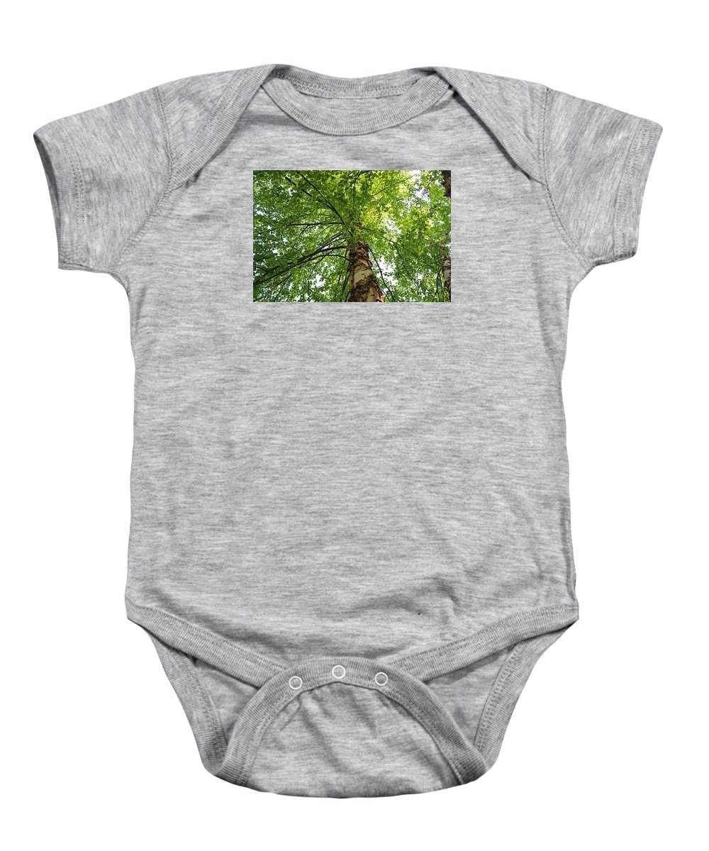 Tree Baby Onesie featuring the photograph Good For The Soul by Michiale Schneider