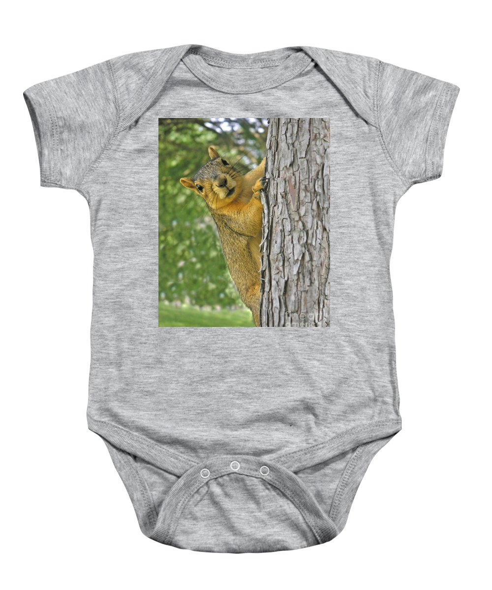 Nature Baby Onesie featuring the photograph Good Morning by Lucyna A M Green