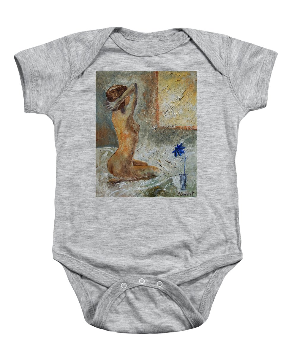 Nude Baby Onesie featuring the painting Good Morning Sunshine by Pol Ledent
