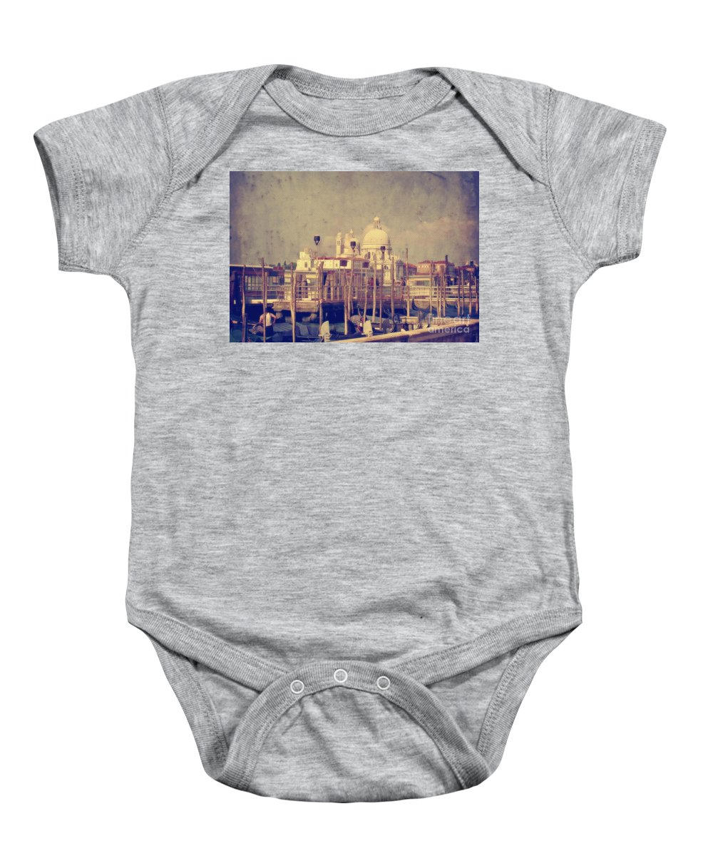 Venice Baby Onesie featuring the photograph Good Morning Venice by Lois Bryan