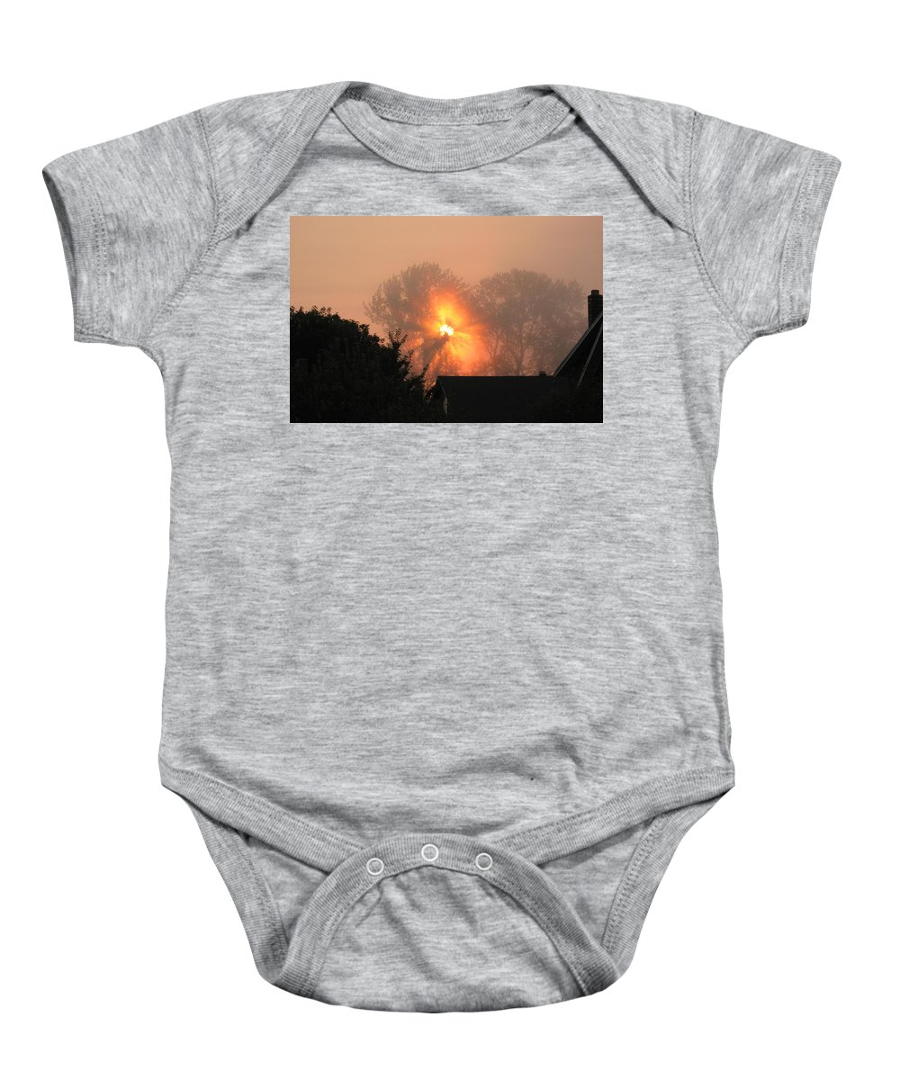 Landscapes Baby Onesie featuring the photograph Goodnight Kiss by Shari Chavira
